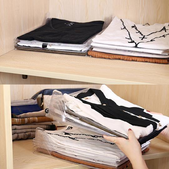 10pcs Folding Board Clothing Organizer