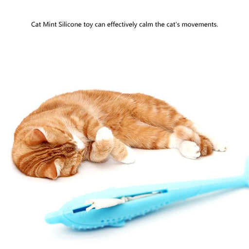 Cat Fish Shape Toothbrush With Catnip