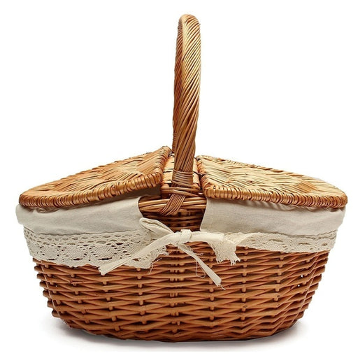 Handmade  Woven Willow Wicker Knit Basket