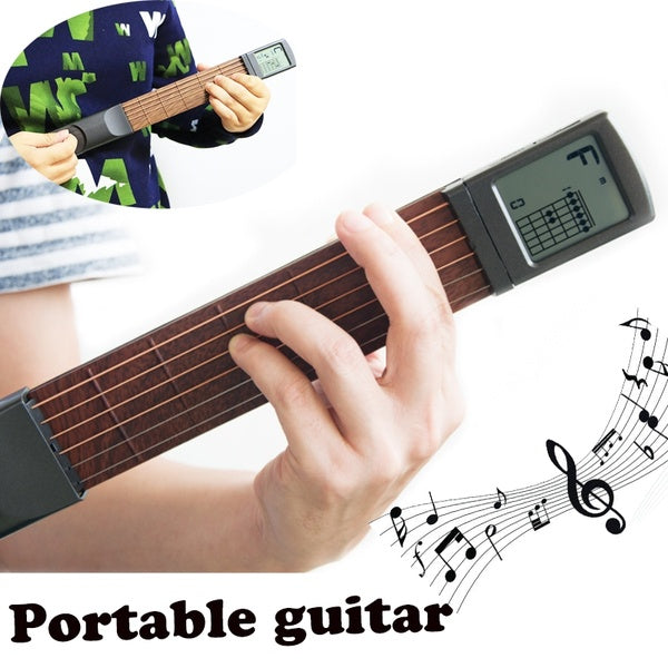 Portable 6-Tone Pocket Guitar Chord Trainer