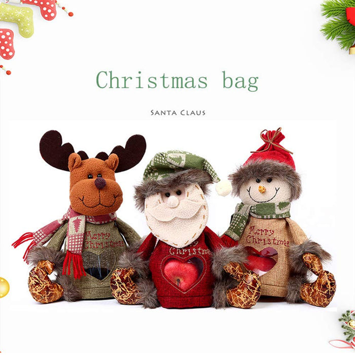 Christmas Apple Candy Gift Bags