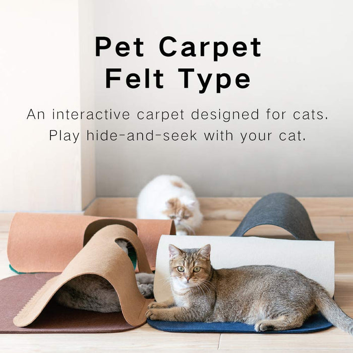 Cat Play Mat Interactive Fun Tunnel