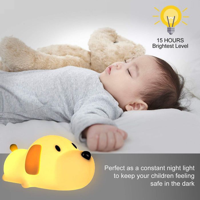 Cartoon Dog Silicone Night Light