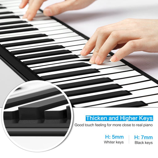 88 Keys Roll Up Piano Instrument