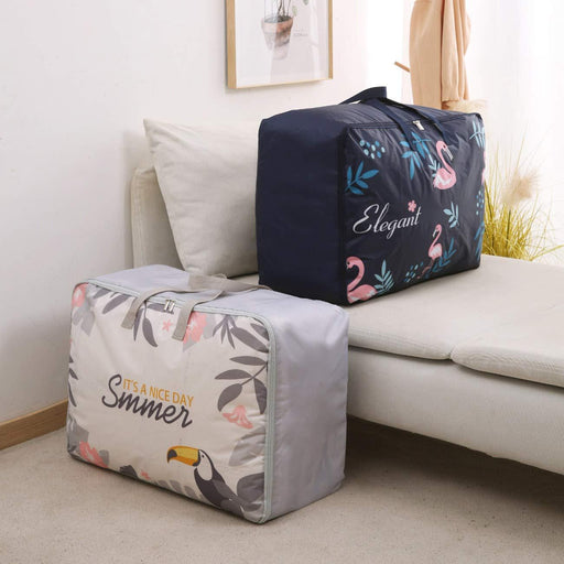2 Pcs Large Oxford Toucan Comforter Blanket Organizer Container Set