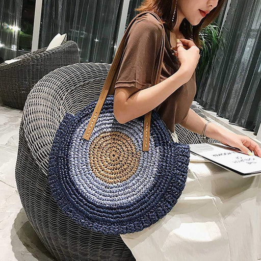 Round Straw Bags Women Summer Rattan Bag