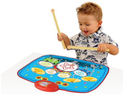 Portable 2-in-1 Drum & Piano Combo Educational Musical Play Mat