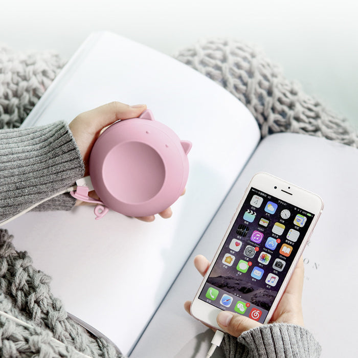 Fast Heating Hand Warmers Power Bank 3 in 1 with LED Makeup Mirror