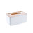 Bamboo Cover Tissue Box With Groove
