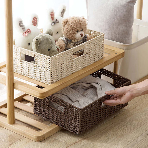 Paper Rope Wicker Storage Basket