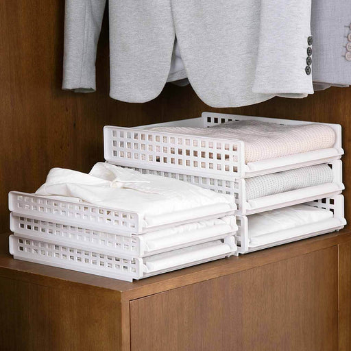 Draw-Out Type Stackable Wardrobe Storage Basket