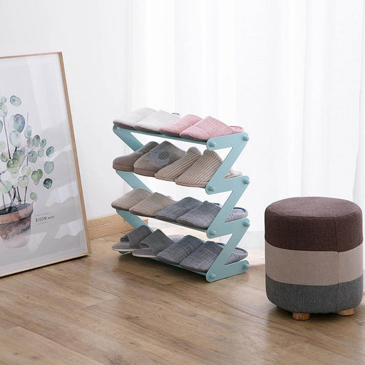 4-Tier Non-Woven Fabric Shoe Rack