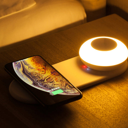 Lamp Desktop Wireless Charger With Home Light