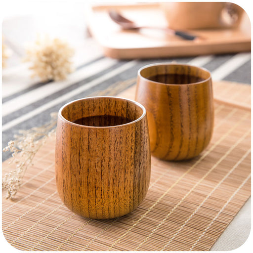2 pcs Japanese Wooden Tea Cup