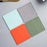 4pcs Nordic Solid Color Silicone Placemat