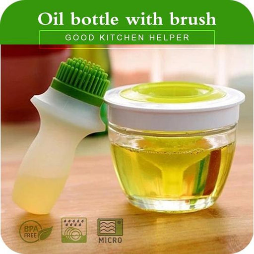 Oil Bottle Brush Tool With Oil Dispenser