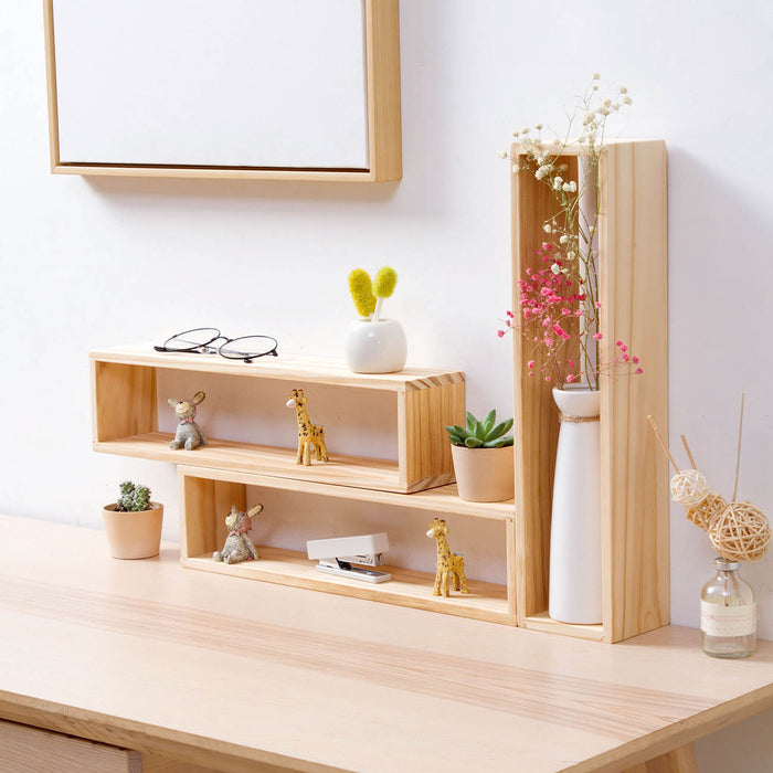 3 pcs Desk Multi-layer Storage Rack