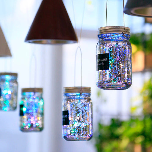 Glass Bottle Romantic LED Lantern Set