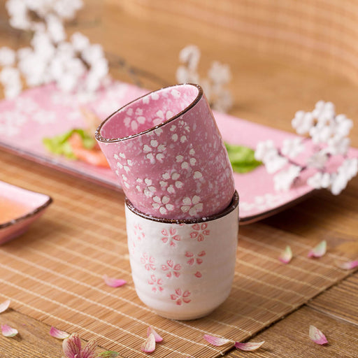 2 Pcs Ceramic Sakura Tea Cup
