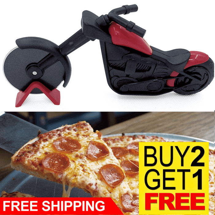 Bicycle Pizza Cutter Stainless Steel
