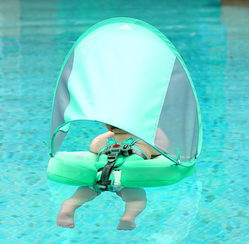 Baby Pool Float with Adjustable Sunshade Canopy