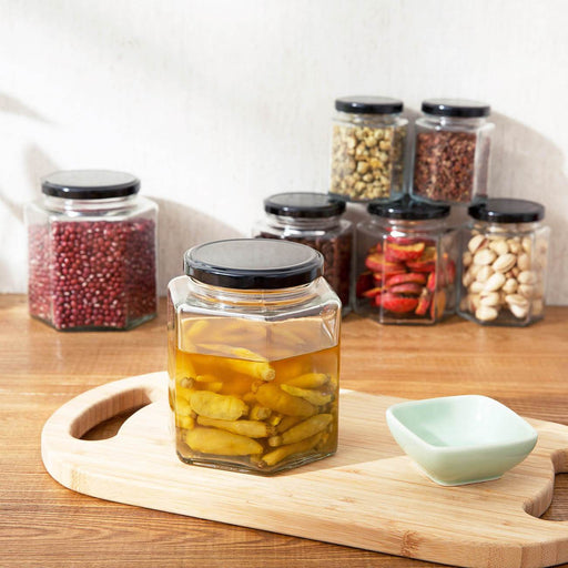 Clear Glass Round Jars With Metal Cap