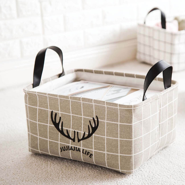 2 Pcs Large Fabric Storage Bin with Lid