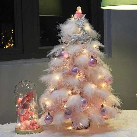 Pink Feathered Christmas Tree