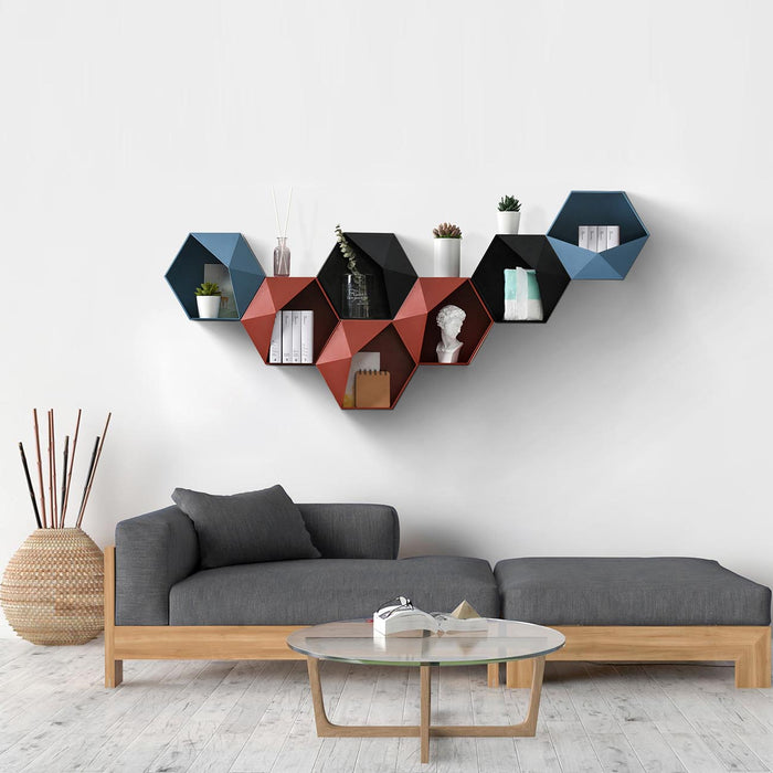 Geometric Decorative Wall Storage Hanging Rack