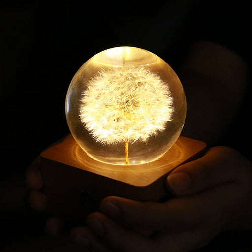 Dandelion Resin Ball Light