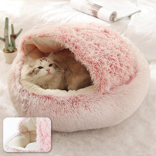Super Soft and Ultra Calming Pet Bed Soft Plush Round Dog Bed Cat Bed