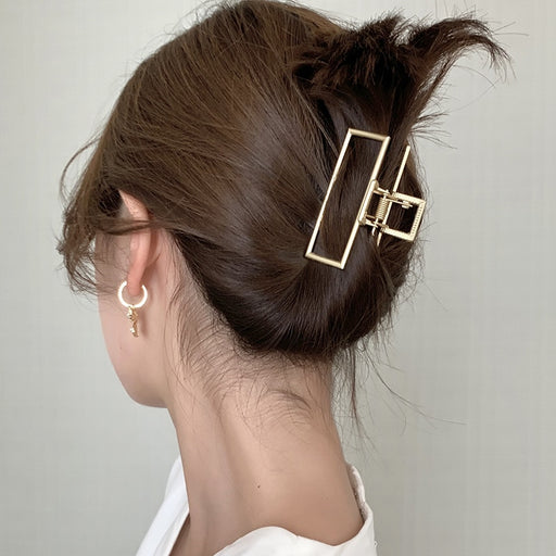 Style Geometric Metal Catch Clip Ponytail