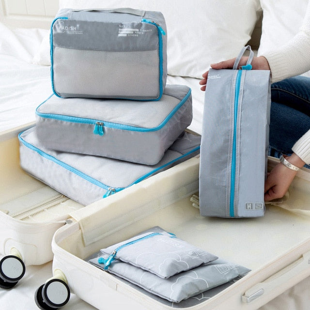Portable Travel Storage Bags For Clothes & Shoes 7pcs