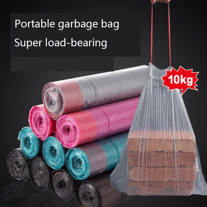Household portable thickened garbage bag disposable large super load-bearing