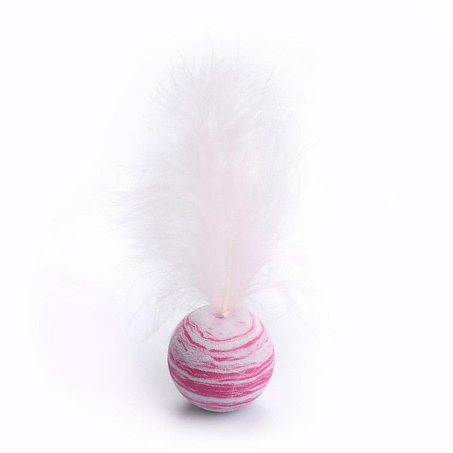 Funny Cat Toy Star Ball Plus Feather EVA Material Light Foam Ball