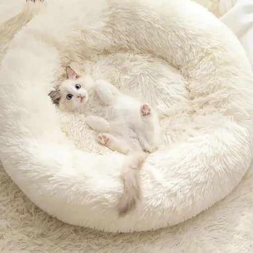 Pet Cat &  Dog Bed Cushion Round Basket House Winter Warm