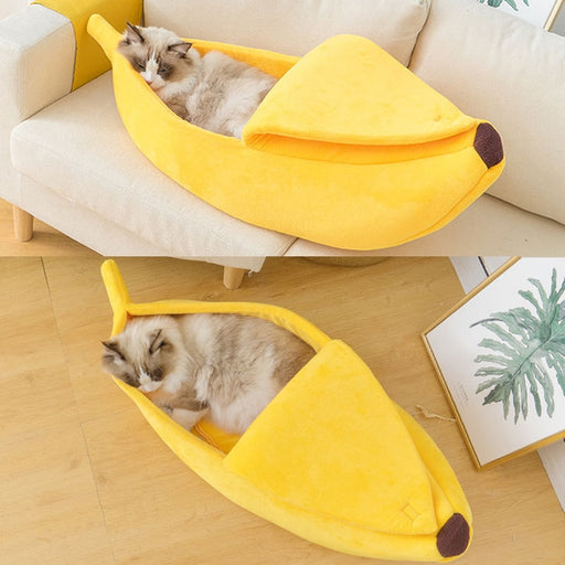 Cat Bed House Cute Cozy Funny Banana