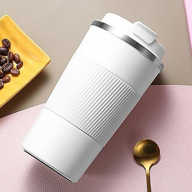Coffee Thermos Double Stainless Steel Mug Car 380ml / 510ml Vacuum Flask Travel Insulated Bottle Tea Cup  For Office Home