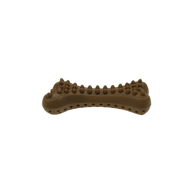 Dog biting toy bone shaped burr tooth cleaning