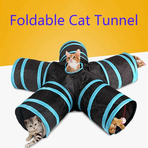 Foldable Pet Cat Tunnel Rabbit