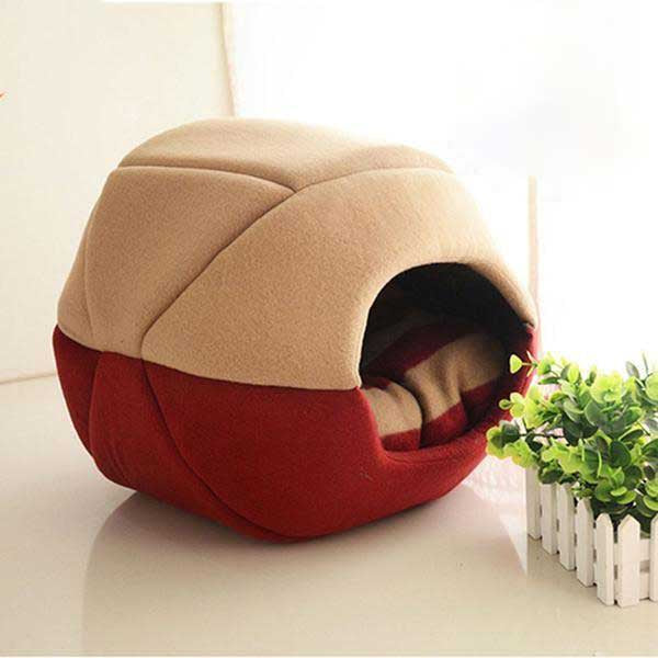 Foldable Turtle Shell Pet Bed