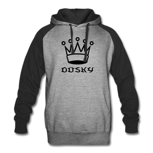 DuskY Two Tone Hoodie - heather gray/black