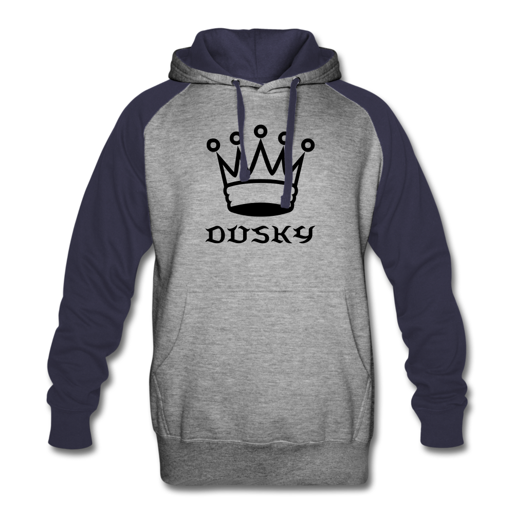 DuskY Two Tone Hoodie - heather gray/navy