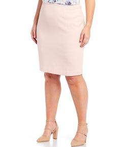 Size Stretch Textured Pencil Skirt