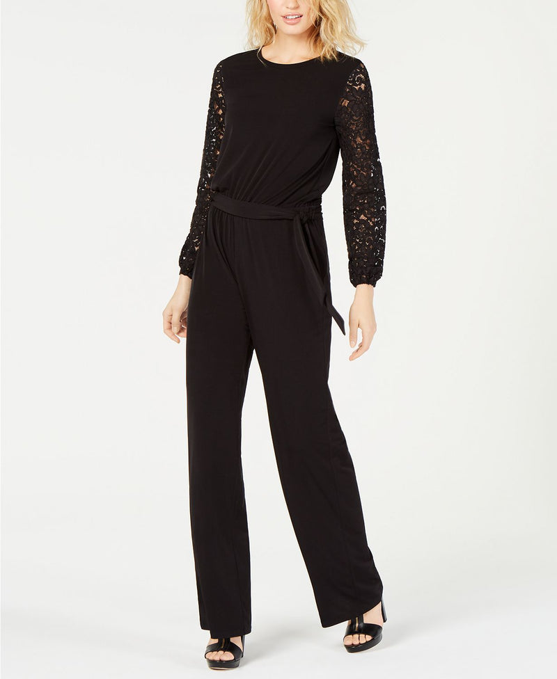 LACE SLV JUMPSUIT