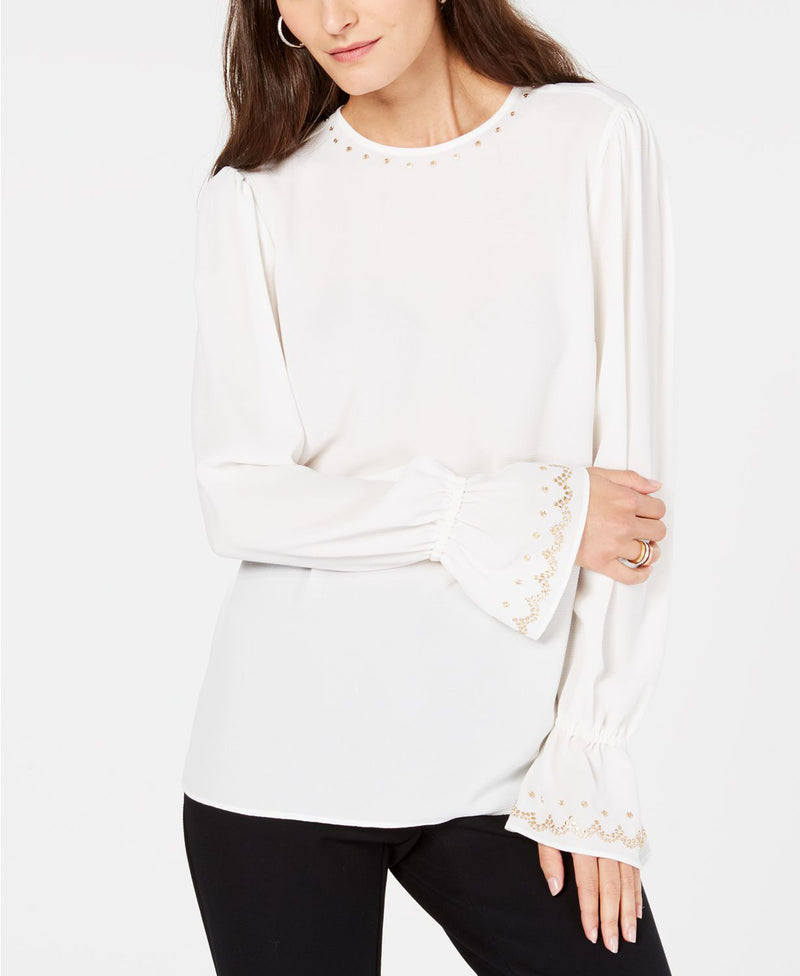 L/S STUD NECK TOP