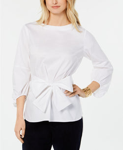 L/S BELTED TOP