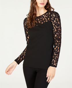 LACE PUFF LS TOP