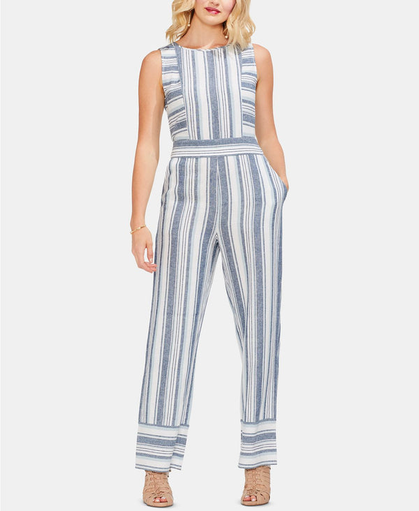S/L BEACH STRIPE JUMPSUI