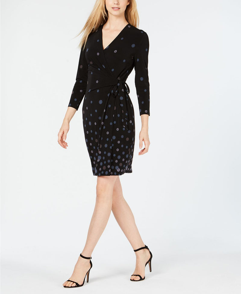 NATHALIE FAUX WRAP DRESS